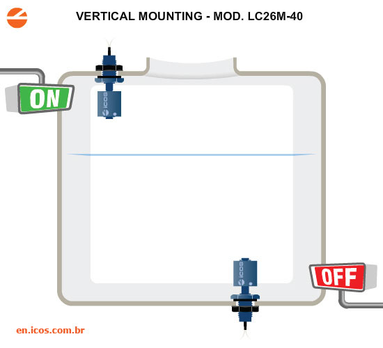 Level Control with Vertical Sensor